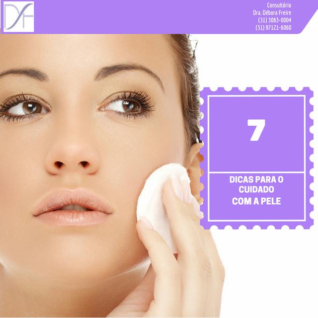 7 cuidados com a pele